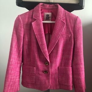 A Juicy Couture small pink tweed blazer.
